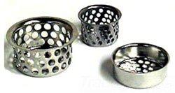 """Walrich 528002 1-7/8"""" Nickel Plated Steel Ketchall Sink Strainer"""