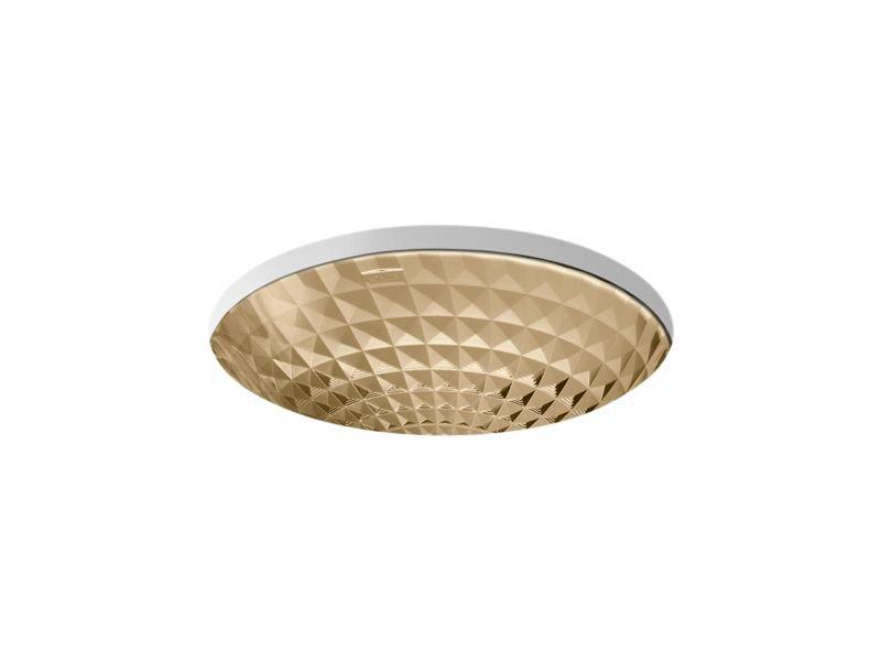 Kohler K-2361-TG7 Kallos Under-Mount Bathroom Sink in Translucent Sandalwood