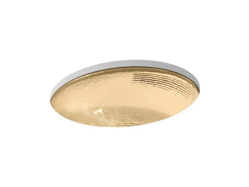 Kohler K-2741-TG7 Whist Glass Under-Mount Bathroom Sink in Translucent Sandalwood