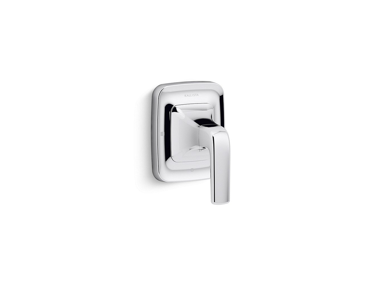 "Kallista Per Se P24723-LV-CP 3-3/4"" X 3-1/2"" 4-3/4"", Chrome, Solid Metal, Lever, Volume Control Valve Trim"