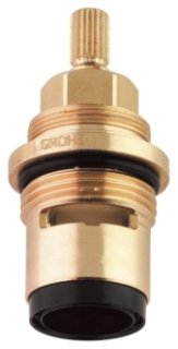 """Grohe Model 45888000 3/4"""" Chrome Ceramic Left Hand-Cold Faucet Cartridge"""