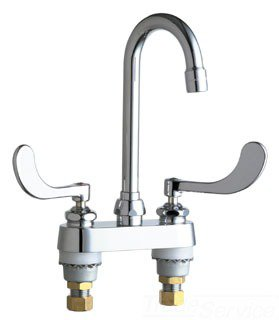 "Chicago 895-317ABCP 1/2"" 2.2Gpm Chrome 2-Handle 4"" Center Bathroom Sink Faucet"