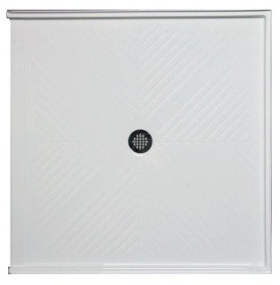 """Americh A 3636 BF-WH 36"""" X 6"""" White/Stainless Lucite Acrylic Base Barrier Free Shower"""