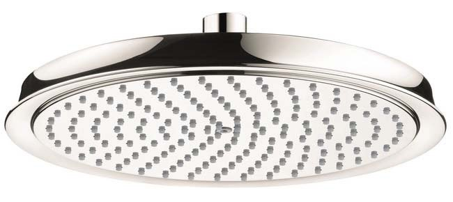 Hansgrohe 28427831 Raindance C Rain 2.5 GPM Shower Head 240 1 Jet Showerhead in Polished Nickel