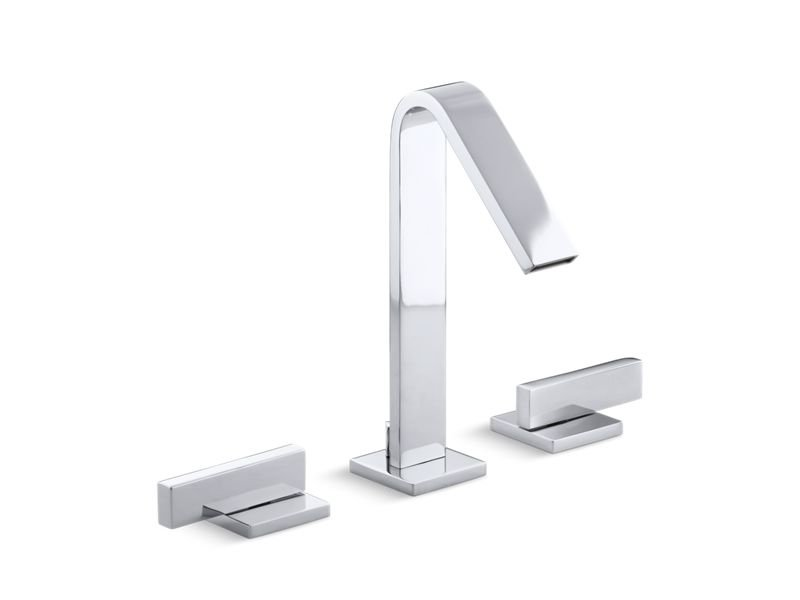 Kohler K-14661-4-CP Loure Widespread Bathroom Sink Faucet with Lever Handles in Polished Chrome