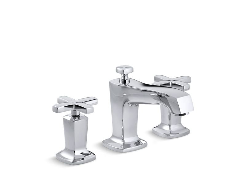 Kohler K-16232-3-CP Margaux Widespread Bathroom Sink Faucet with Cross Handles - Polished Chrome in Polished Chrome