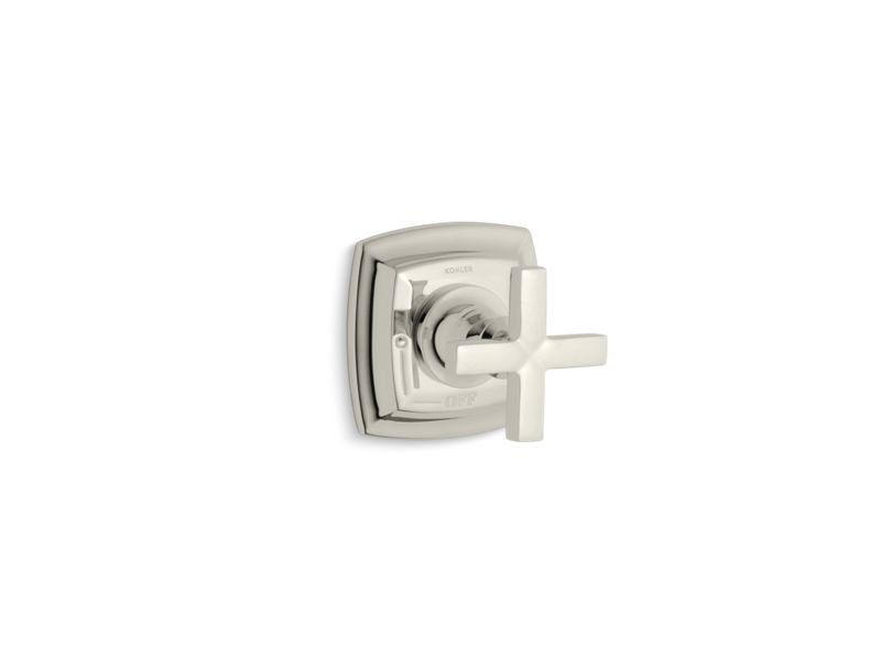 Kohler K-T16241-3-SN Margaux Valve Trim with Cross Handle for Volume Control Valve, Requires Valve in Vibrant Polished Nickel