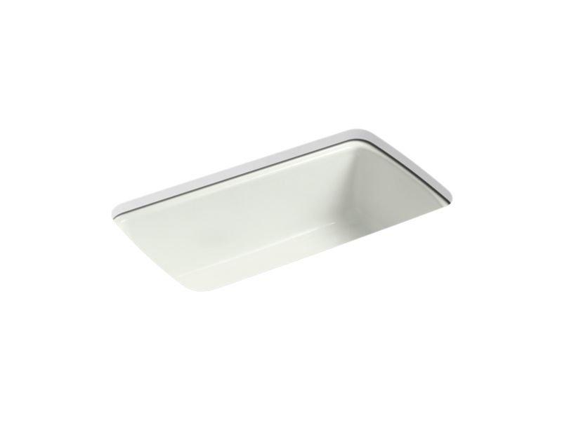 "Kohler K-5864-5U-NY Cape Dory 33"" x 22"" x 9-5/8"" Under-mount Single-bowl Kitchen Sink with 5 Oversize Faucet Holes in Dune"