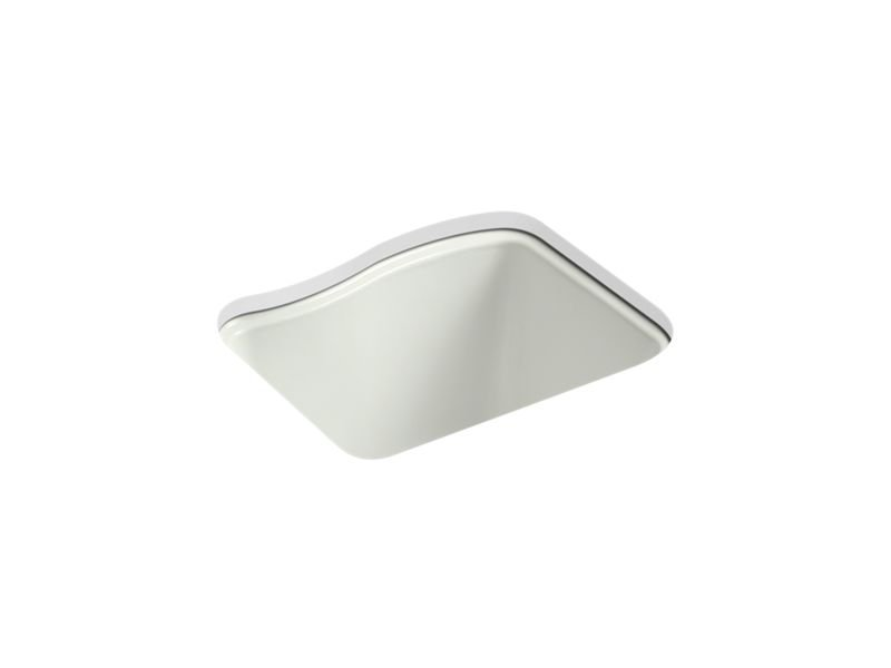 Kohler K-6657-4U-NY River Falls Under-Mount Utility Sink with 4 Faucet Holes - 3-Holes On Deck On The Left and Right-Hand Accessory Hole in Dune
