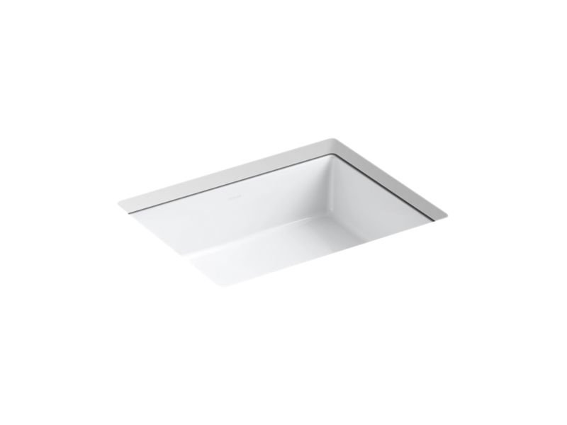 Kohler K-2882-0 Vertical Rectangle Under-Mount Bathroom Sink in White