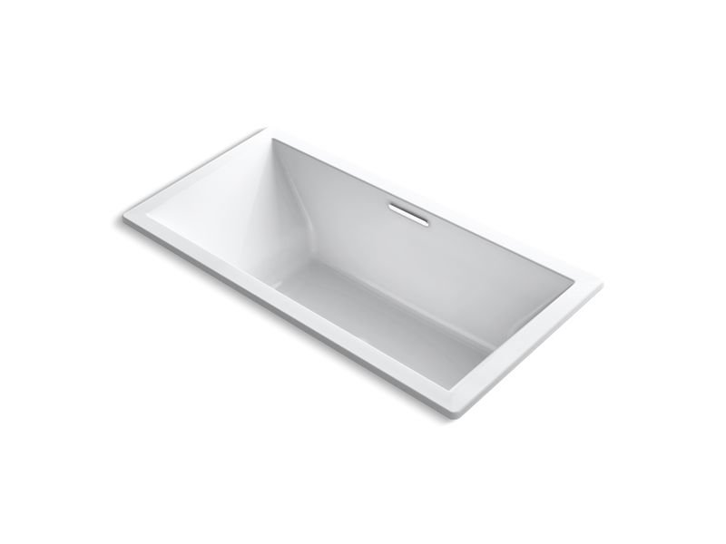 Kohler K-1835-VB-0 Underscore Rectangle 72 x 36 Drop-in Vibracoustic Bath with Center Drain in White