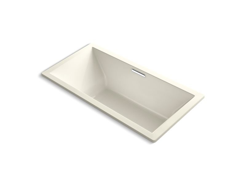 Kohler K-1835-VB-96 Underscore Rectangle 72 x 36 Drop-in Vibracoustic Bath with Center Drain in Biscuit