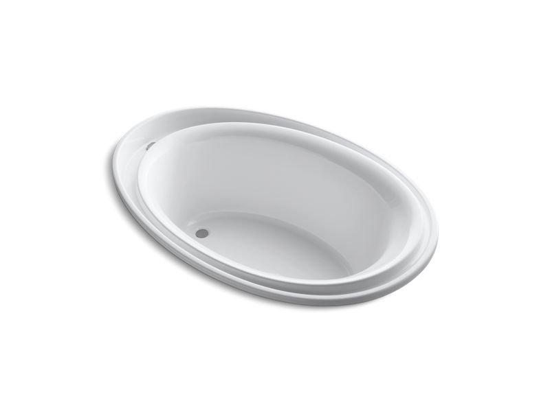"Kohler K-1190-0 Purist 72"" x 46"" Drop-In Bath with Reversible Drain in White"