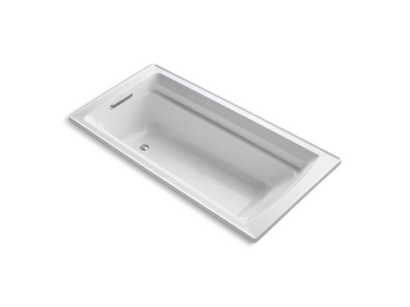 "Kohler K-1125-0 Archer 72"" x 36"" Drop-In Bath in White"