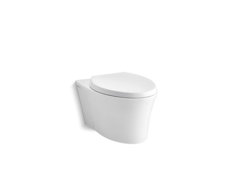 Kohler K-6299-0 Veil One-piece Elongated Dual-flush Wall-hung Toilet with Reveal Quiet-close Seat in White