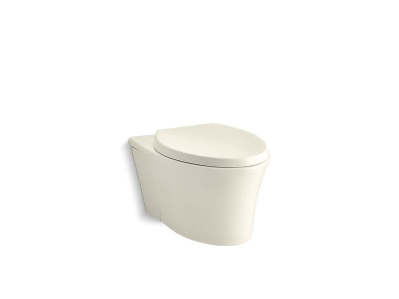 Kohler K-6299-96 Veil One-piece Elongated Dual-flush Wall-hung Toilet with Reveal Quiet-close Seat in Biscuit
