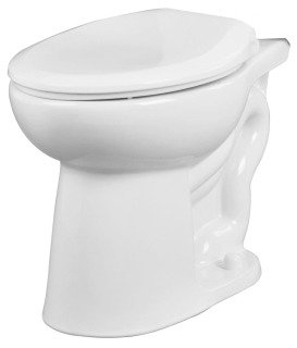 "Gerber Maxwell 21-952 14-7/8"" 1.1/1.6Gpf White Vitreous China Round Front Toilet Bowl"