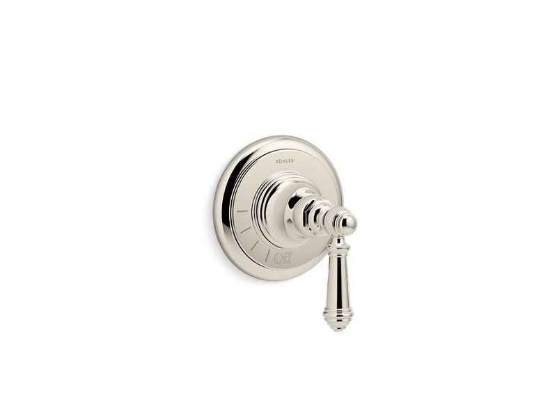 Kohler K-T72771-4-SN Artifacts Volume Control Valve Trim with Lever Handle in Vibrant Polished Nickel