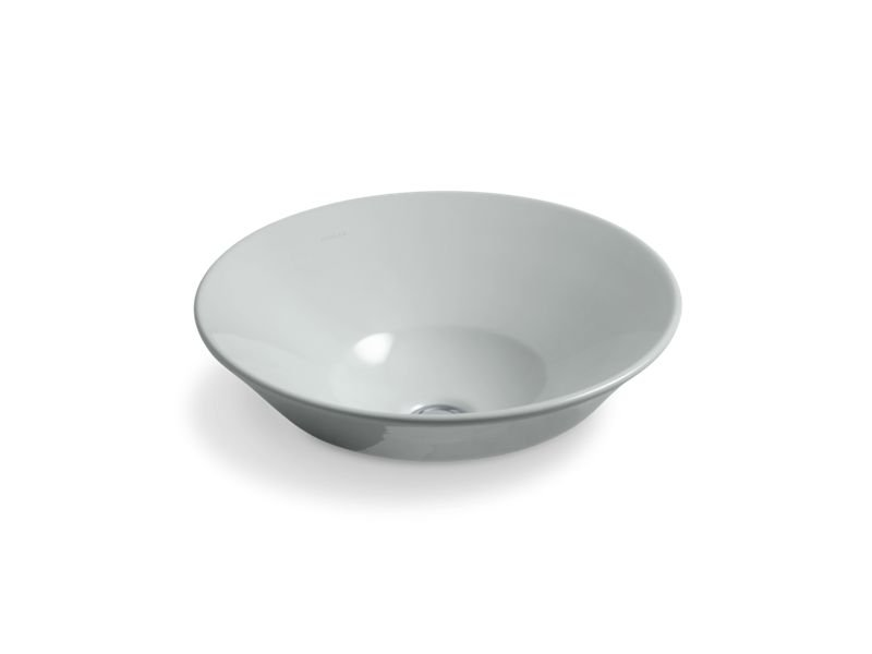 Kohler K-2200-95 Conical Bell Vessel Or Wall-Mount Bathroom Sink in Ice Grey