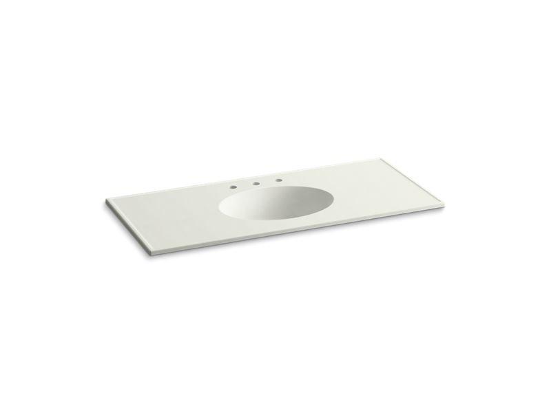 "Kohler K-2891-8-G82 Ceramic/Impressions 49"" Oval Vanity-Top Bathroom Sink with 8"" Centerset Faucet Holes in Dune Impressions"