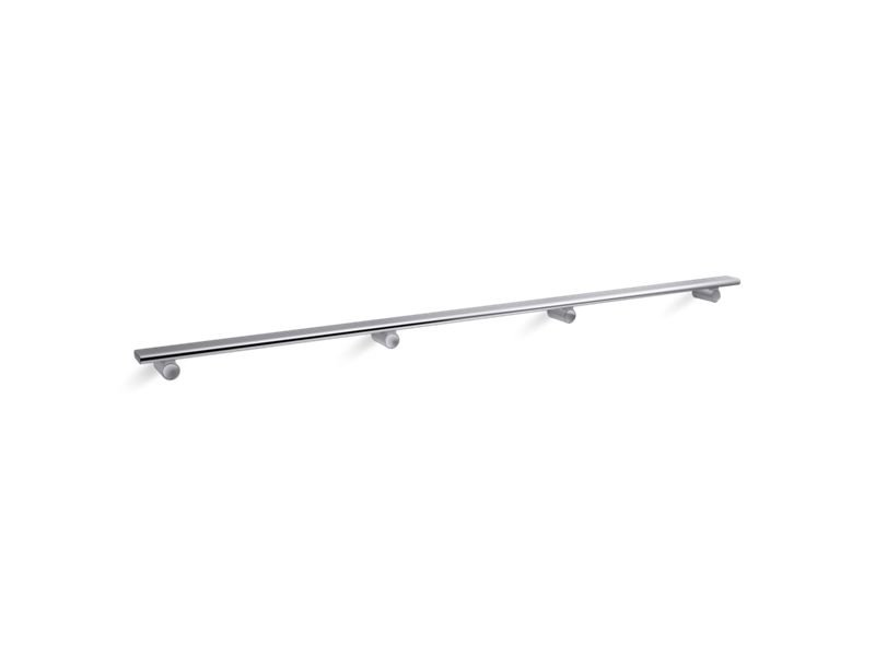 "Kohler K-97628-SHP Choreograph 54"" Shower Barre in Bright Polished Silver"