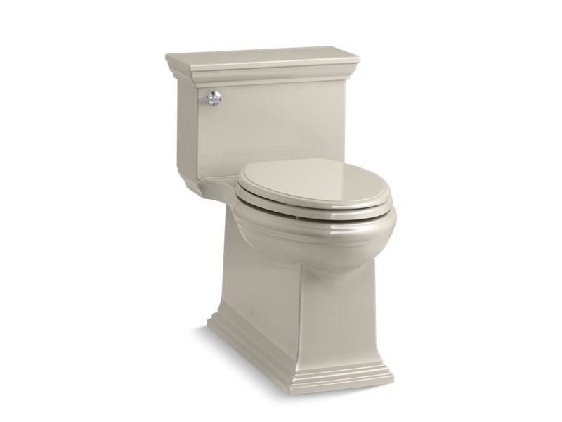 Kohler K-6428-G9 Memoirs Stately Comfort Height Skirted One-piece Compact Elongated 1.28 Gpf Toilet with Aqua piston Flush Technology and Left-hand Trip Lever in Sandbar