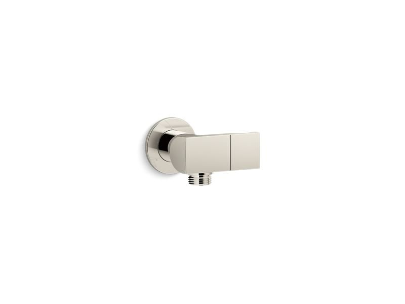 Kohler K-98354-SN Exhale Wall-Mount Handshower Holder with Supply Elbow and Check Valve in Vibrant Polished Nickel