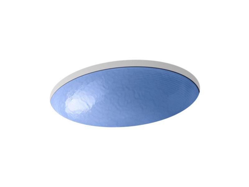 Kohler K-2741-G6-B11 Whist Opaque Glass Under-Mount Bathroom Sink In Sapphire