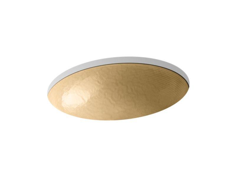Kohler K-2741-G7-B11 Whist Opaque Glass Under-Mount Bathroom Sink In Sandalwood