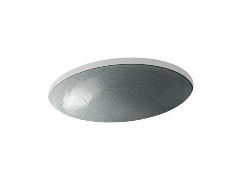 Kohler K-2741-G8-B11 Whist Opaque Glass Under-Mount Bathroom Sink In Stone